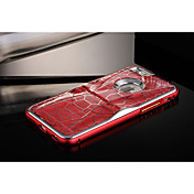 fresco especial patrón de cuadrícula de diseño de la PC + aluminio del metal de parachoques del marco nuevo caso para el iphone 6 con pata