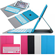 제품 케이스 커버 스탠드 키보드 플립 360°회전 풀 바디 케이스 한 색상 하드 인조 가죽 용 iPad Air 2
