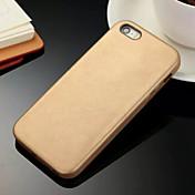 용 아이폰5케이스 Other 케이스 뒷면 커버 케이스 단색 하드 인조 가죽 iPhone SE/5s/5