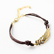 Women's Fashion Alloy Golden Leaf Bracelet Christmas Gifts