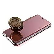 아이폰 5 5S에 대한 아이폰 7 플러스 최신 플립 커버 거울 표면 전기 도금 패션 휴대 전화 쉘