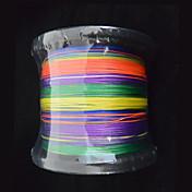1000m anmnka marca 8stand colorido súper fuerte pe multifilamento línea trenzada japón 8 ~ 80 libras