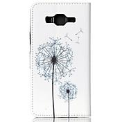 Para Funda Samsung Galaxy Soporte de Coche / Cartera / con Soporte / Flip / Diseños Funda Cuerpo Entero Funda Diente de LeónCuero