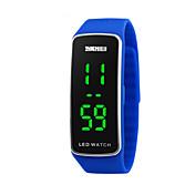 아동 스포츠 시계 LED 달력 스포츠 시계 디지털 실리콘 밴드 블랙 블루 레드 퍼플