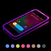 Para Funda iPhone 6 / Funda iPhone 6 Plus Fosforescente / Linterna LED / Transparente Funda Cubierta Trasera Funda Un Color Suave TPU