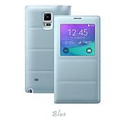 용 Samsung Galaxy Note 윈도우 / 플립 케이스 풀 바디 케이스 단색 인조 가죽 Samsung Note 4