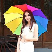 el color al azar de arco iris paraguas plegable paraguas de protección UV