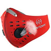 Máscara de protección contra la polución Bicicleta Transpirable Resistente al Viento A prueba de polvo Antibacteriano UnisexRojo Gris