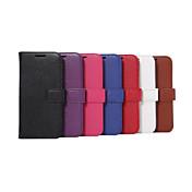 용 Samsung Galaxy S7 Edge 지갑 / 카드 홀더 / 스탠드 / 플립 케이스 풀 바디 케이스 단색 인조 가죽 Samsung S7 edge / S7