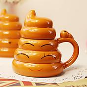 1 개 창조적 인 기발한 골드 똥 컵 이천 도자기 성격 컵 (임의 양식)