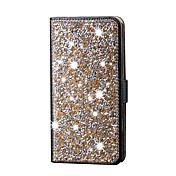 용 아이폰5케이스 카드 홀더 크리스탈 스탠드 케이스 풀 바디 케이스 글리터 샤인 하드 인조 가죽 용 Apple 아이폰 7 플러스 아이폰 (7) iPhone 6s Plus/6 Plus iPhone 6s/6 iPhone SE/5s/5