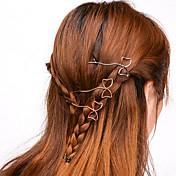 Women Simple Handmade Bow Hair Clips Alloy Hair Accessories 1pc