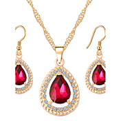 MISSING UCrystal / Alloy / Rhinestone / Opal / Rose Gold Plated Jewelry Set Necklace/Earrings Wedding / Party / Daily