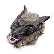 헤어 마스크 멋진 드레스 의상 파티 무서운 할로윈 라텍스 동물 늑대 머리