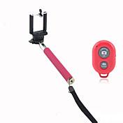 휴대폰 홀더 및 아이폰 용 블루투스 원격 셔터와 셀프 카메라 확장 카메라 핸드 헬드 모노 포드