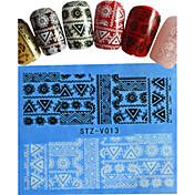 1pcs  New Nails Art  Lace Sticker Colorful Image Design Beautiful Rose Manicure Nail Art Tips STZ-V011-015
