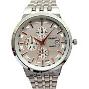 남성용 패션 시계 모조 다이아몬드 시계 석영 캐쥬얼 시계 합금 밴드 스파클 참 멋진 실버 골드 멀티컬러