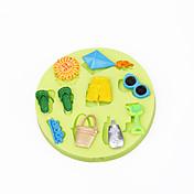 여름 해변 장난감 컵 케이크 장식 실리콘 초콜릿 몰드 퐁당 sugarcraft 도구 폴리머 클레이 사탕 만들기