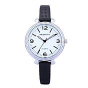 REBIRTH 아가씨들 패션 시계 손목 시계 / 석영 PU 밴드 우아한 캐쥬얼 블랙 화이트 레드 브라운