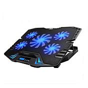 5 팬 조절 LED 스크린 스마트 제어 노트북 냉각 패드