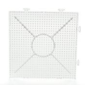 perler 구슬은 구슬을 융합 5mm 하마 비즈에 대한 1PCS 템플릿 분명 일반적인 연결 가능한 대형 페그 보드 15 * 15cm 정사각형