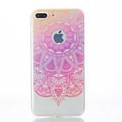 Para iPhone X iPhone 8 iPhone 7 iPhone 7 Plus iPhone 6 Carcasa Funda Diseños Cubierta Trasera Funda Impresión de encaje Suave TPU para