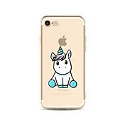 용 반투명 / 패턴 케이스 뒷면 커버 케이스 동물 소프트 TPU Apple아이폰 7 플러스 / 아이폰 (7) / iPhone 6s Plus/6 Plus / iPhone 6s/6 / iPhone SE/5s/5 / iPhone 5c / iPhone