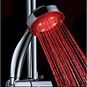 Ducha de mano ABS LED color de agua cambiando por fuerte de agua