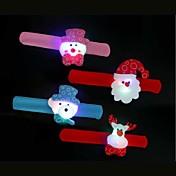 4pcs los niños aplauden su anillo de manos de la lámpara de la decoración ambiente 7colorful de iluminación novedoso luz de la Navidad