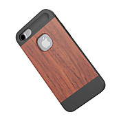 용 충격방지 케이스 뒷면 커버 케이스 나무결 하드 대나무 용 Apple 아이폰 (7)