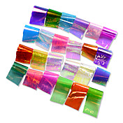 1set 24 Colors Broken Glass Sticker Nail Art Starry Sky Laser Shinning DIY Transfer Foils Nail Art Tips Craft Decorations ND285