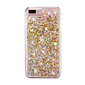 Para iPhone 8 iPhone 8 Plus iPhone 7 iPhone 7 Plus iPhone 6 Carcasa Funda Líquido Cubierta Trasera Funda Brillante Dura Policarbonato para