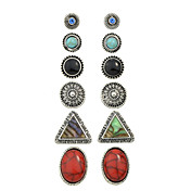 Mujer Pendientes cortos Pendiente Europeo Personalizado Cosecha joyería de disfraz Legierung Forma de Círculo Forma de Triángulo Joyas