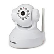 Sricam 1.0 MP 실내 with IR-cut 128G(낮 밤 모션 감지 리모트 액서스 Wi-Fi 안전 설치 플러그 및 재생) IP Camera