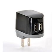 UL 인증 듀얼 USB 벽 충전기, 5V 2.1A 출력, 우리는 아이폰 5 / 5S / 5C 아이폰 6 / 플러스 아이 패드 2 / 3 / 4 / 미니 / 공기, 얼굴을 플러그