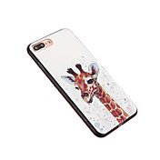 Para Antipolvo Funda Cubierta Trasera Funda Animal Dura Policarbonato para Apple iPhone 7 Plus iPhone 6s Plus/6 Plus