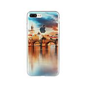 용 패턴 케이스 뒷면 커버 케이스 풍경 소프트 TPU 용 Apple 아이폰 7 플러스 아이폰 (7) iPhone 6s Plus/6 Plus iPhone 6s/6