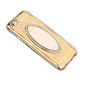 Para Espejo Funda Cubierta Trasera Funda Un Color Suave TPU para Apple iPhone 7 Plus iPhone 7 iPhone 6s Plus/6 Plus iPhone 6s/6