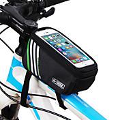 B-SOUL 자전거 가방 1.8LWaterproof 자전거 프레임 백 튜브 백 착용 가능한 Iphone 홀더 터치 스크린 싸이클 가방 테릴렌 싸이클 백iPhone 5/5S Iphone 6/IPhone 6S/IPhone 7 아이폰 5 ℃