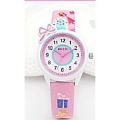 KEZZI 아동 패션 시계 손목 시계 일본 쿼츠 PU 밴드 캐쥬얼 화이트 블루 핑크 퍼플