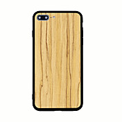 Para Diseños Funda Cubierta Trasera Funda Fibra de Madera Dura Acrílico para AppleiPhone 7 Plus iPhone 7 iPhone 6s Plus iPhone 6 Plus