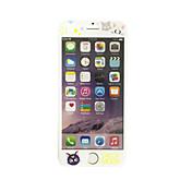 부드러운 가장자리 전체 화면 범위 전면 화면 보호기 만화 고양이 패턴 애플 아이폰 7 플러스 5.5 인치 강화 유리에 대한
