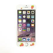부드러운 가장자리 전체 화면 범위 전면 화면 보호기 만화 딸기 패턴 애플 아이폰 7 플러스 5.5 인치 강화 유리에 대한