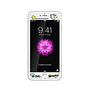 어두운 팬더의 엠 보스 만화 패턴의 빛이 함께 애플 아이폰 6 / 기가 4.7inch 강화 유리 투명 전면 화면 보호기