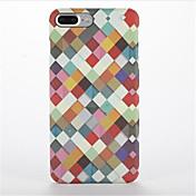 용 반투명 패턴 케이스 뒷면 커버 케이스 기하학 패턴 하드 PC 용 Apple 아이폰 7 플러스 아이폰 (7) iPhone 6s Plus iPhone 6 Plus iPhone 6s 아이폰 6