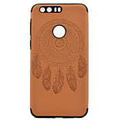 For Huawei P9 P9 Lite Embossed Dreamcatcher Pattern PU leather and Black TPU Combo Soft Phone Case for Honor 8