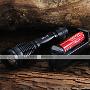 LED Flashlights/Torch Handheld Flashlights/Torch LED 2000 Lumens 5 Mode Cree XM-L T6 18650 AAA Adjustable FocusCamping/Hiking/Caving