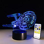 3d nuevo acorazado de la nave espacial regalos los niños dormitorio de la lámpara lámpara de mesa de luz nocturna bulbificación niño