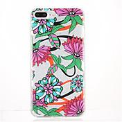 Para Diseños Funda Cubierta Trasera Funda Flor Suave TPU para Apple iPhone 7 Plus iPhone 7