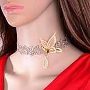 Mujer Gargantillas Mariposa Tela de Encaje Animal Círculo Moda Euramerican Oro/Plateado Joyas ParaBoda Fiesta Ocasión especial Cumpleaños
